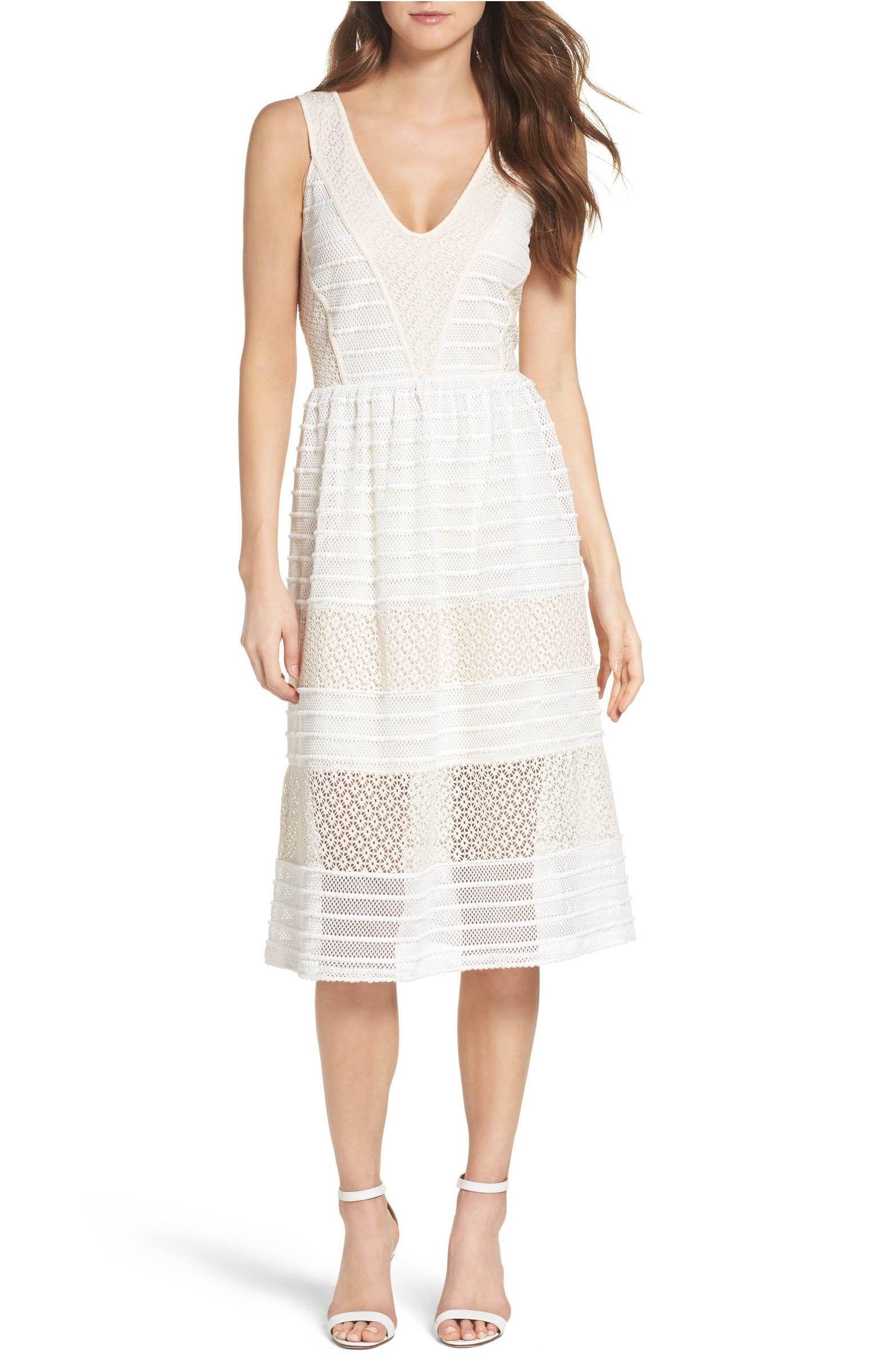 3ed4d27323a Main Image - Chelsea28 Lace Midi Dress