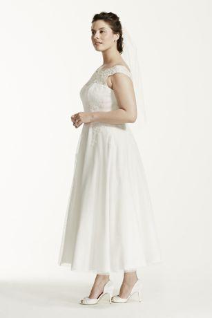 gowns tea length cap sleeve sweetheart