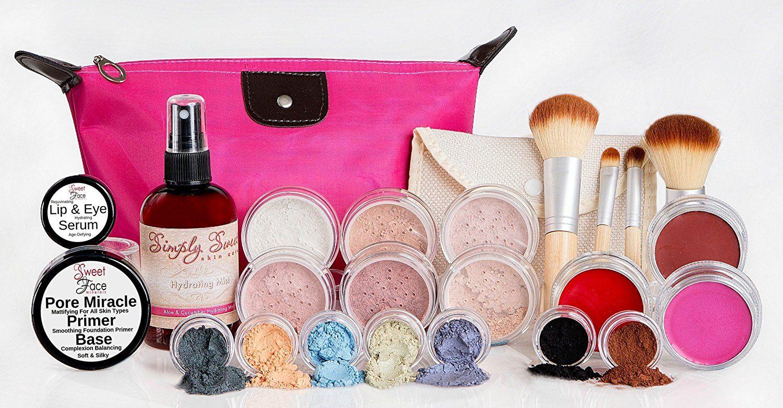 GLAM KIT Full Size Mineral Makeup Set Matte Foundation