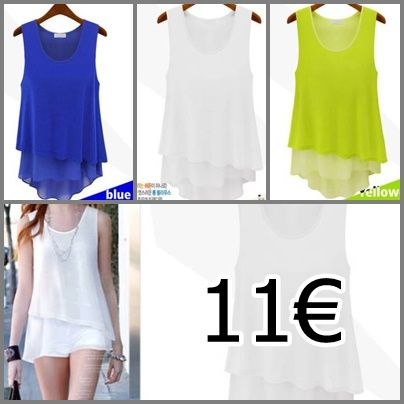 blusa disponible en 3 colores