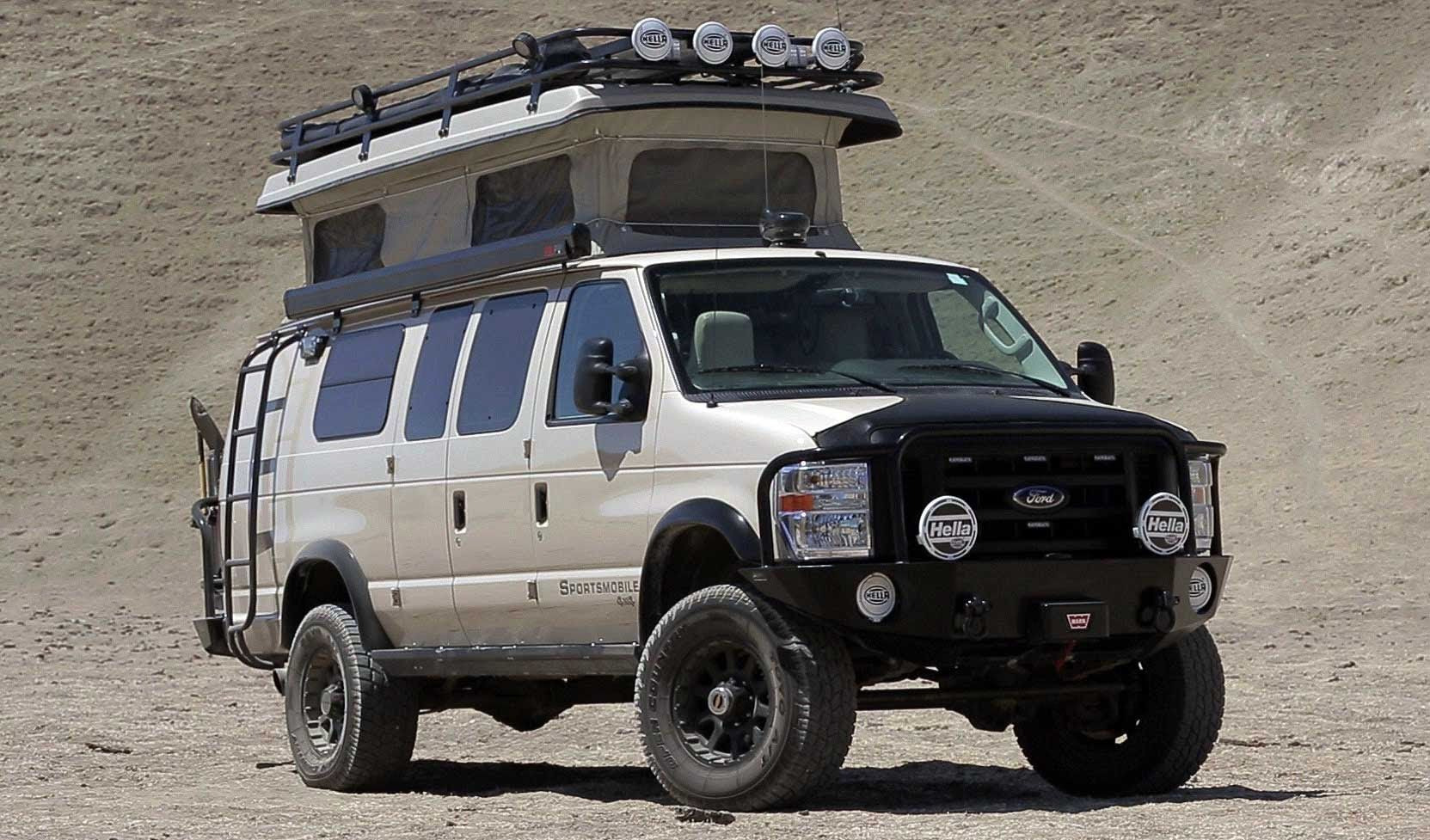 off road camper wars ford 4x4 sportsmobile vs ford 4x4 4x4 and ford. Black Bedroom Furniture Sets. Home Design Ideas