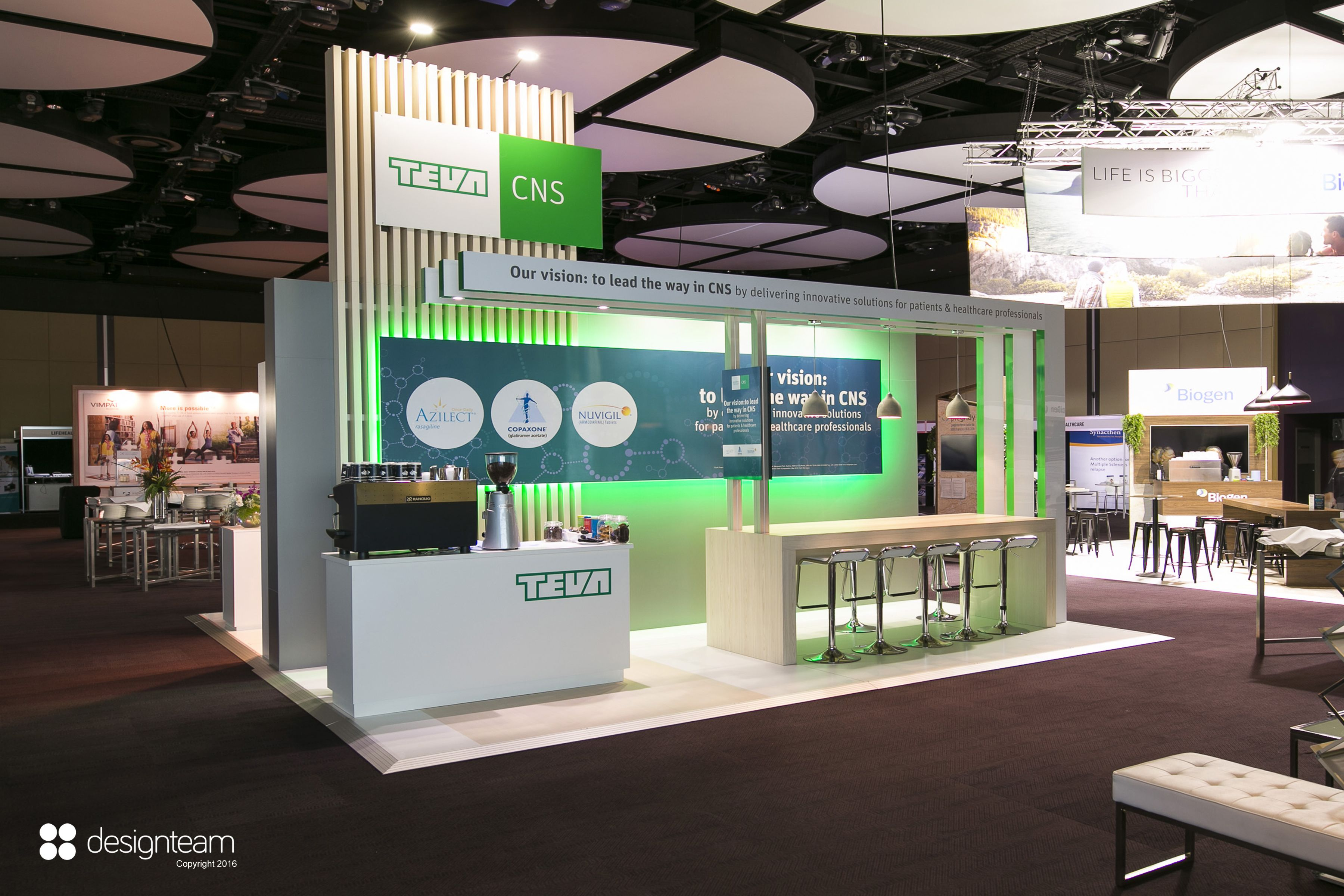 Exhibition Stand Designers Amp Builders : Teva anzan stand is based on its previous success combined with