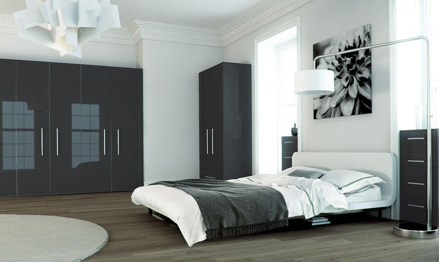 Zurfiz Metallic Anthracite Fitted bedrooms, Fitted