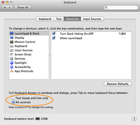 Enable Full Keyboard Access To All Controls In Your Mac Sanziro Keyboard Control Access Control