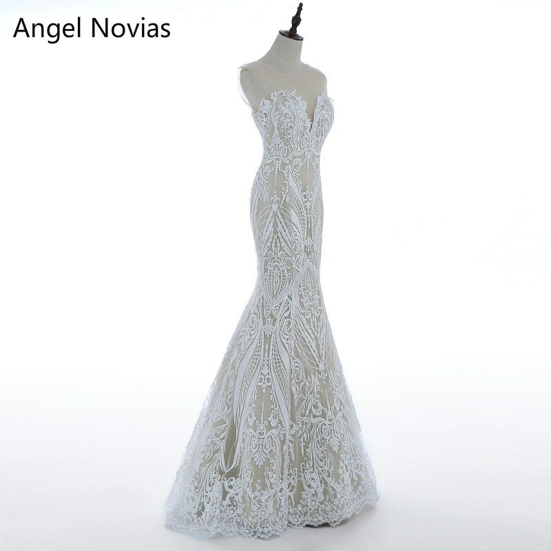 Lace Mermaid Wedding Dresses Boho Bridal Gowns