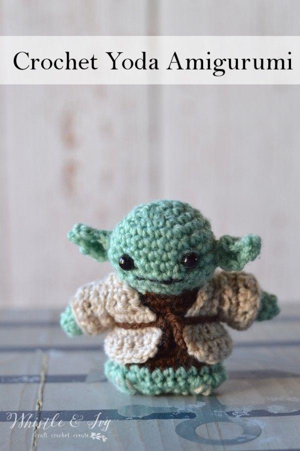Crochet Yoda Amigurumi | Botas tejidas, Ganchillo y Tejido