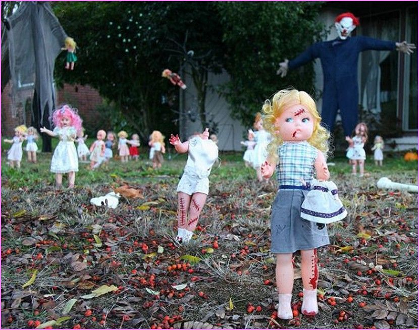 Superb Halloween Front Yard Decoration Ideas Part - 3: Creating A Front Yard Halloween Decorations That Is Both Awesome And Creepy  To Amuse, Scare And Delight The Trick-or-treat Crowd Is Easy.