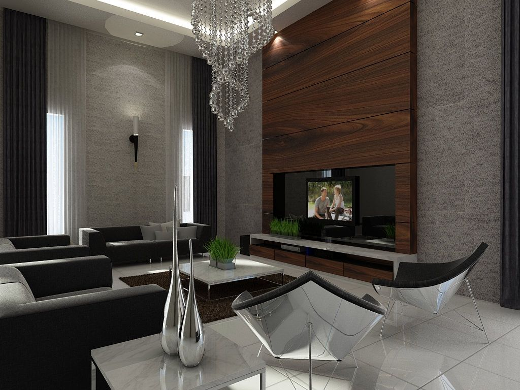 Best 25 tv feature wall ideas on pinterest lcd tv without stand living room tv cabinet and - Lcd wall designs living room ...