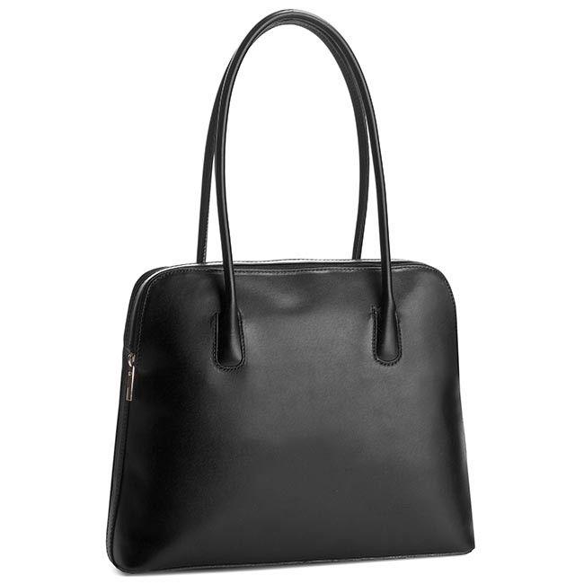 0349a63f777f9 Włoska Torebka Shopper Bag Skóra Naturalna VERA PELLE Czarna | Skórzane  Torebki Włoskie - torebki uwielbiane przez kobiety! | Shopper bag, Bags i  Tote Bag
