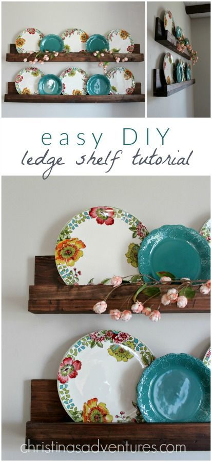 Simple DIY ledge shelf tutorial - you can make these for about $10 in less than 30 minutes!