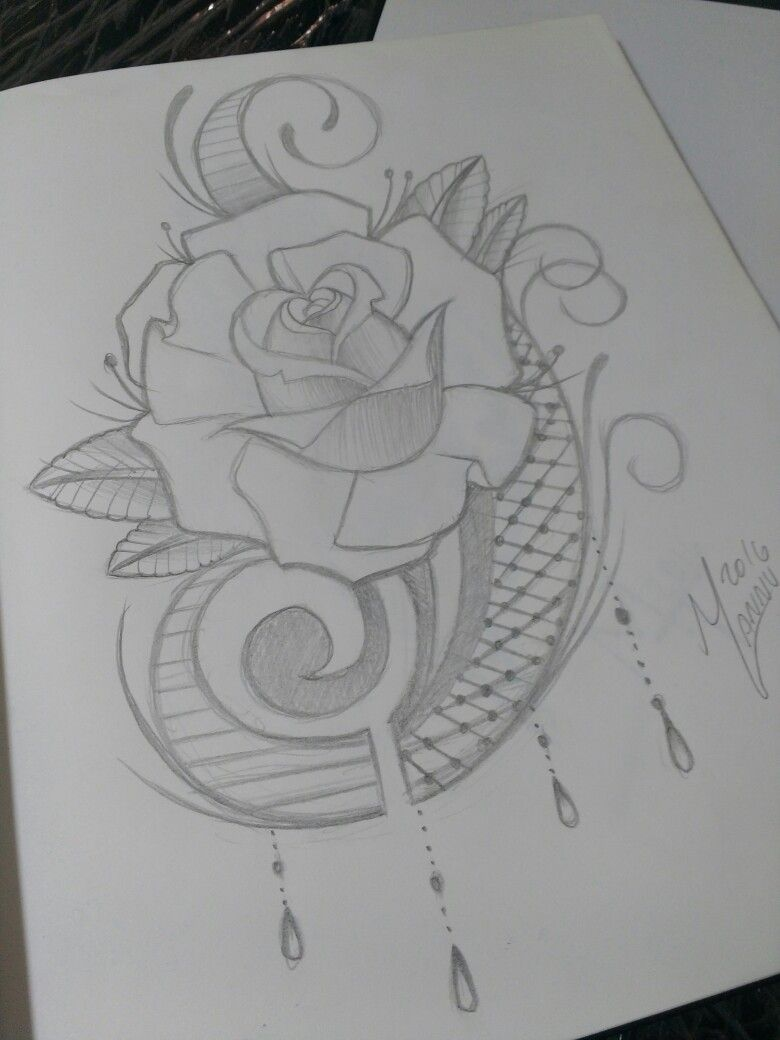 c1ffc8c52 Rose ornamental Tattoo Sketches, Tattoo Drawings, Body Art Tattoos, Art  Sketches, Floral