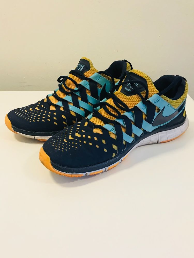 91521aec0 NIKE Free Trainer 5.0 Mens Walking Running Shoes Sneakers Size10 Blue Yellow   fashion  clothing  shoes  accessories  mensshoes  athleticshoes (ebay link)