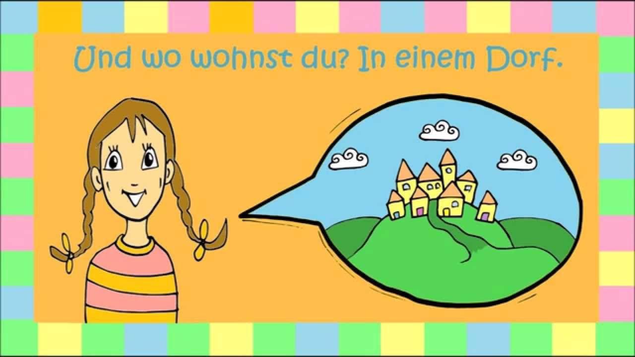 fragen wie hei t du wie alt bist du wo wohnst du deutsch erste klasse deutsch lernen. Black Bedroom Furniture Sets. Home Design Ideas