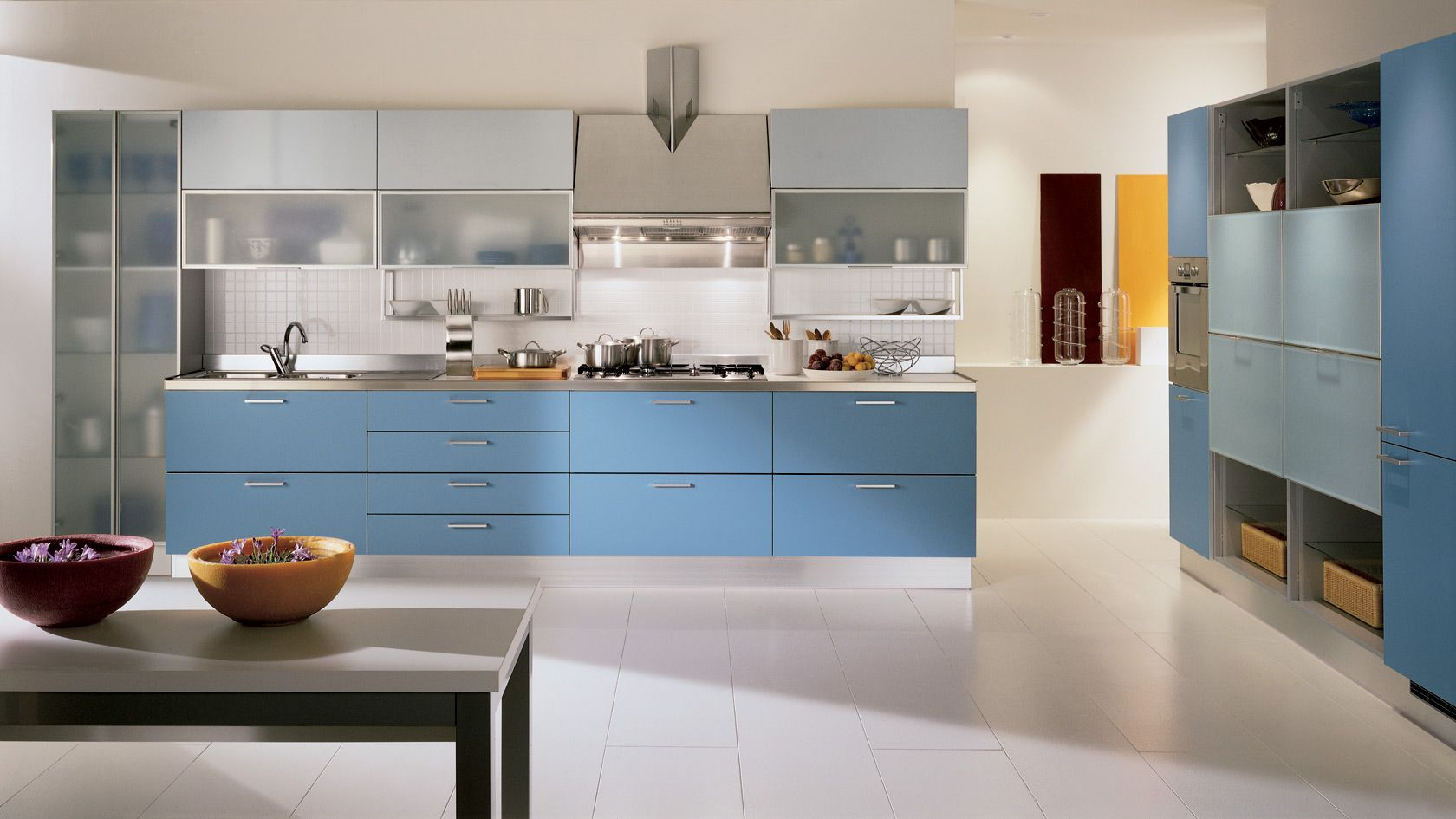 Kitchen cabinets storage with stylish shapes and colors #kitchen ...