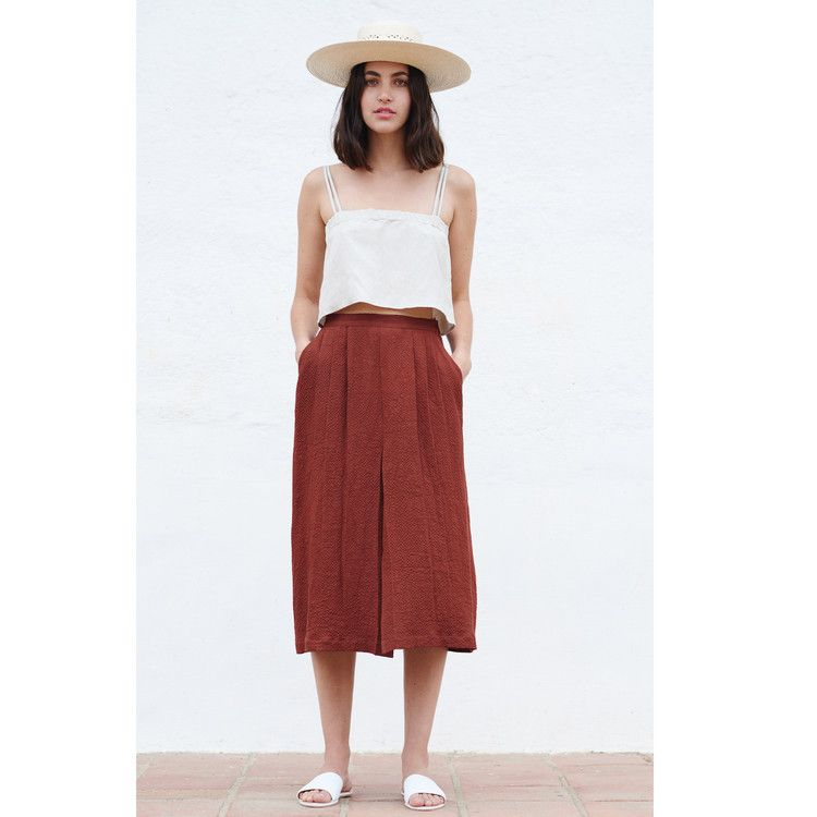 e09a2bc6ad FIRST RITE TWO STRAP TANK IN NATURAL | Create | Pleated skirt ...