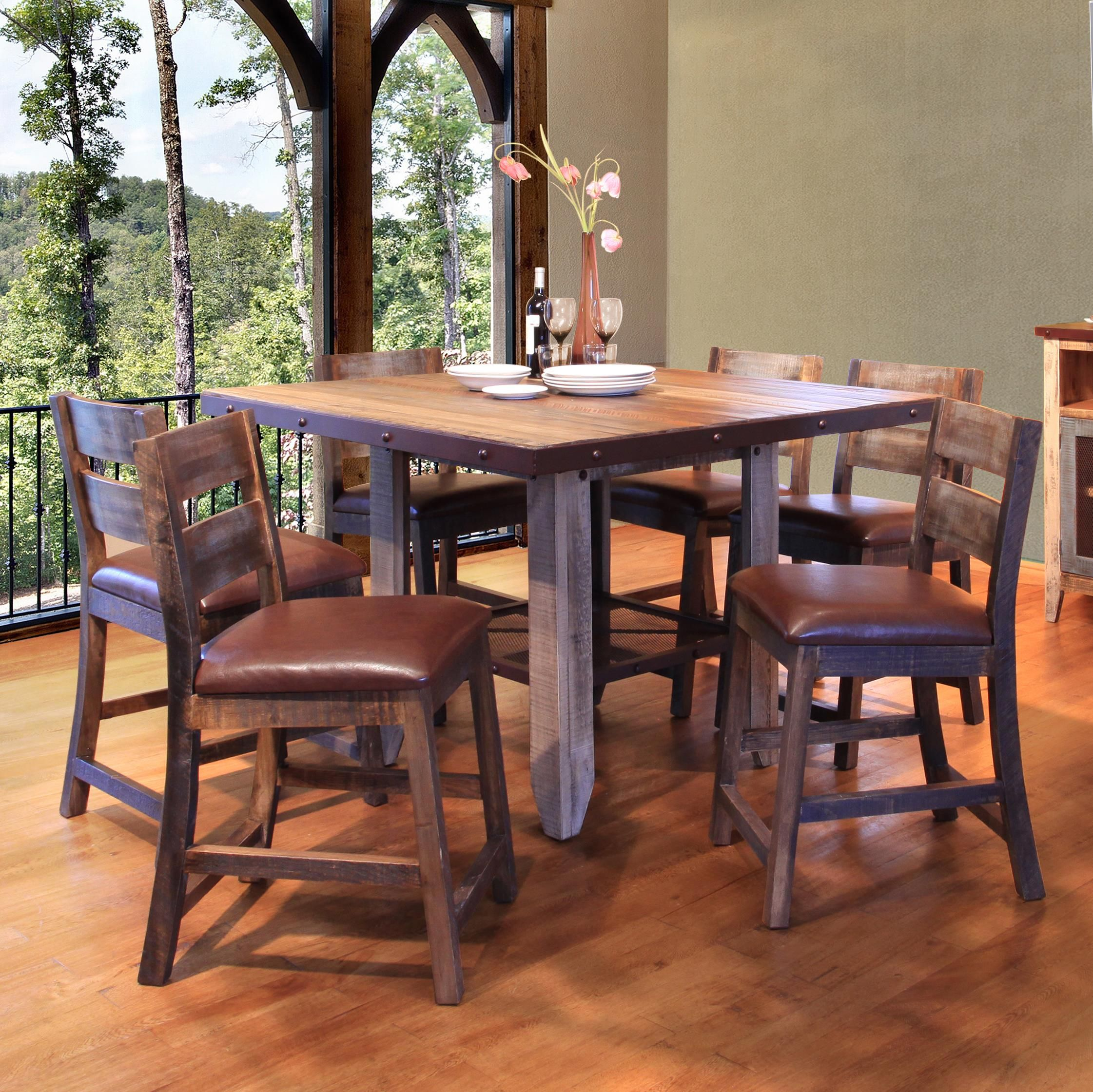 900 antique 52 counter height dining table set by