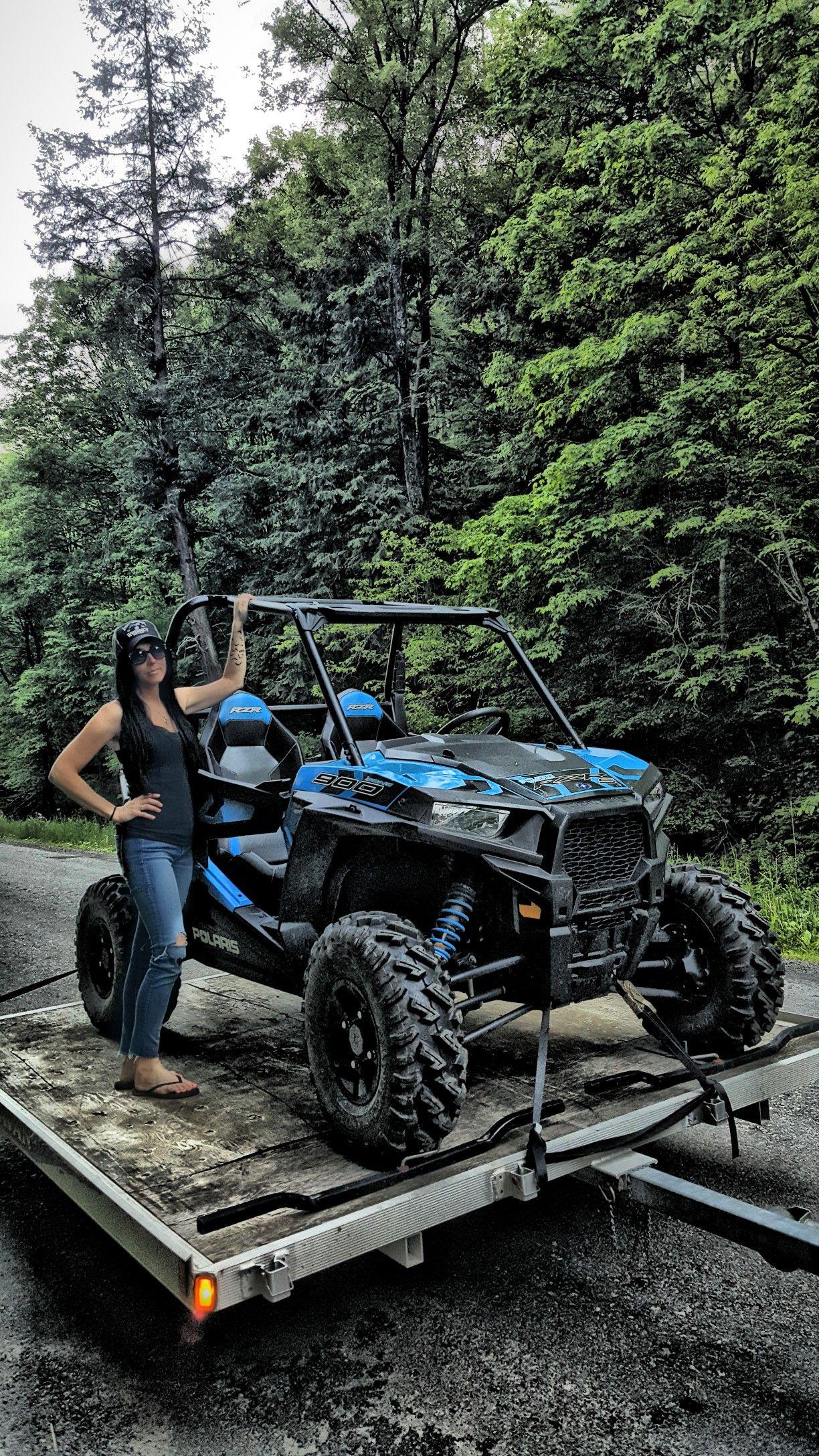 Blue Rzr 900 Offroad Atv Riding Atv Quads