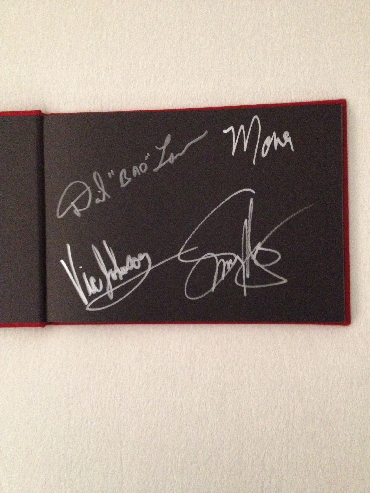 Sammy Hagar And Friends Signed Book Friends Sign Chalkboard Quote Art Book Signing
