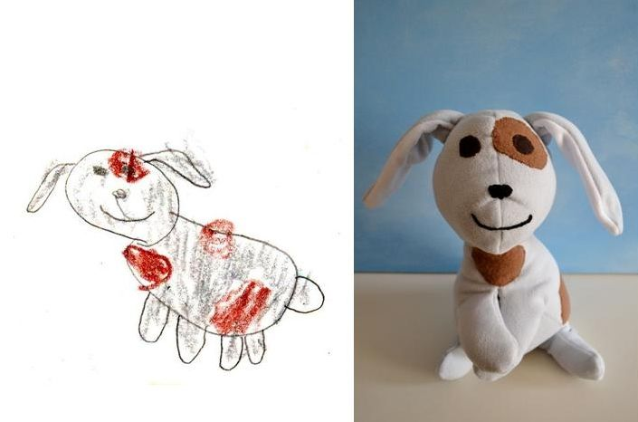 What a good idea for your child!! Make a toy out of their drawing!!