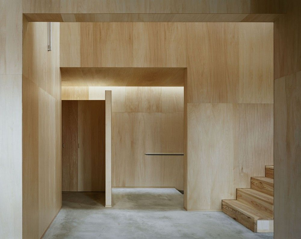 plywood decor casa na in japan studio architect shuji hisada plywood