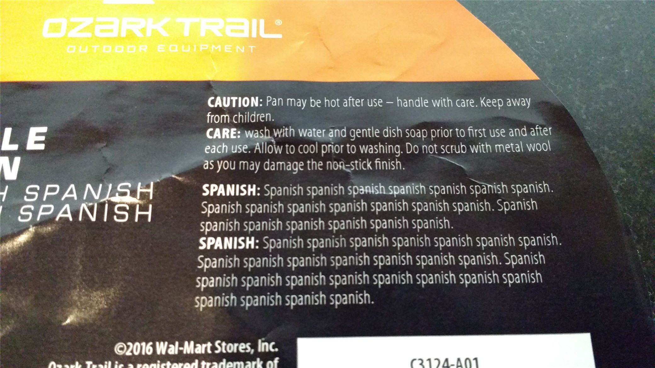 The instructions for my new frying pan in English and Spanish http://ift.tt/2fPwObZ