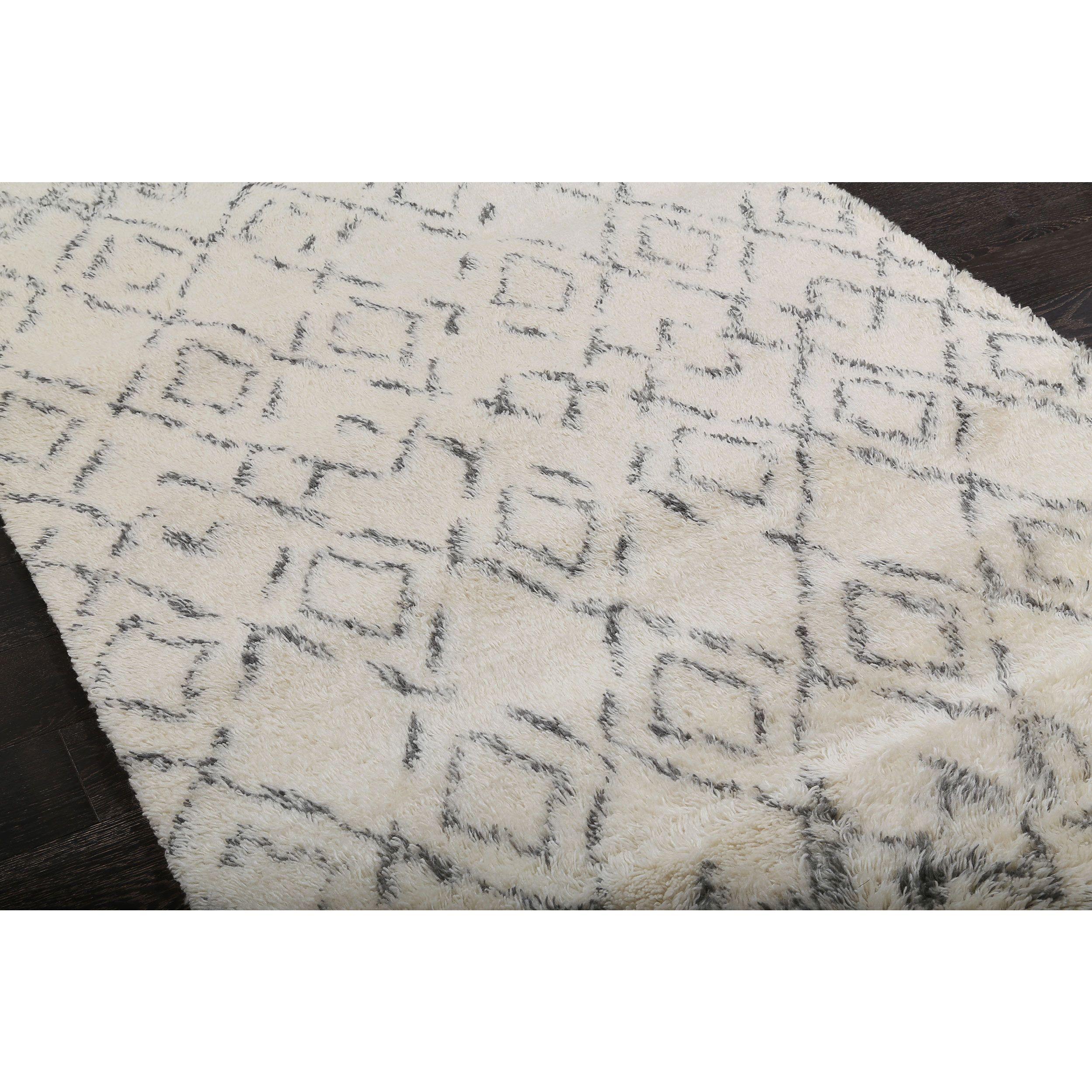 Beni Ourain Moroccan Beige Wool Area Rug 9 X 12 Overstock