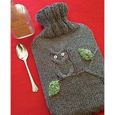 Dr. Owl - hot water bottle cover - Rowan