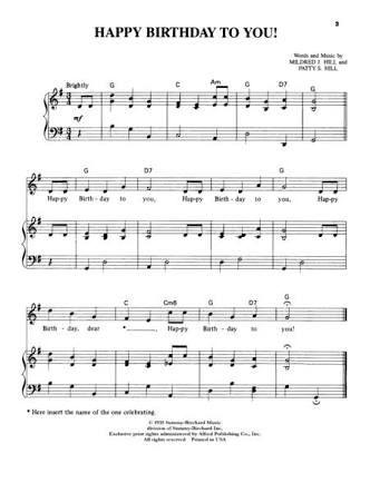 Hasil Gambar Untuk Free Download Piano Sheet Music Happy Birthday