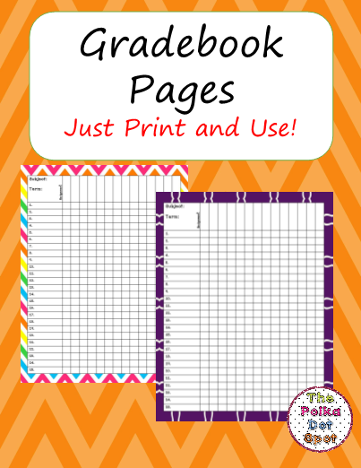 Template Grade Book Grade Book Printable Teacher Grade Book