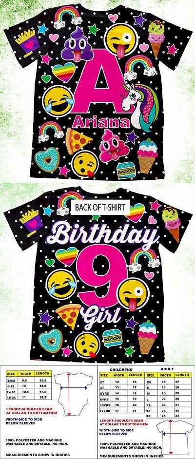 46f1dbcac Tops and T-Shirts 155199: Personalized Emoji Birthday Shirt, Girls Emoji  Theme Party Shirt, Initial Tshir -> BUY IT NOW ONLY: $34 on eBay!