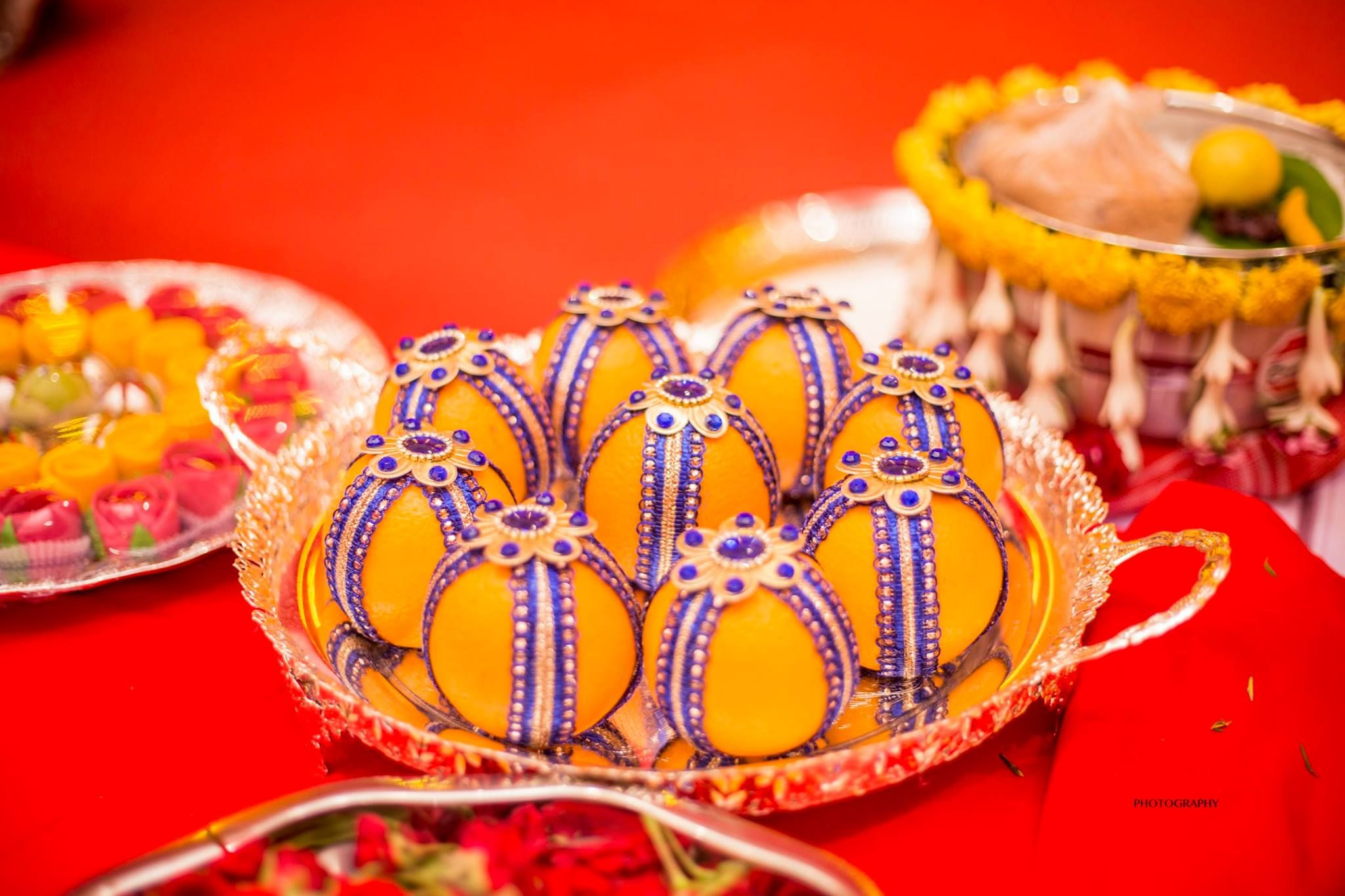 Blue Lays covered Oranges-Plate Decoration & Blue Lays covered Oranges-Plate Decoration | Plate Decoration by ...