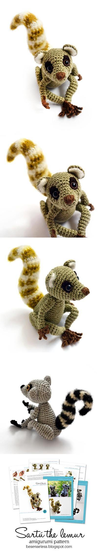 Sartu the Lemur amigurumi pattern by airali design | Patrones ...