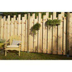 Panneau bois plein Palissade, l.180 x H.200 cm, naturel