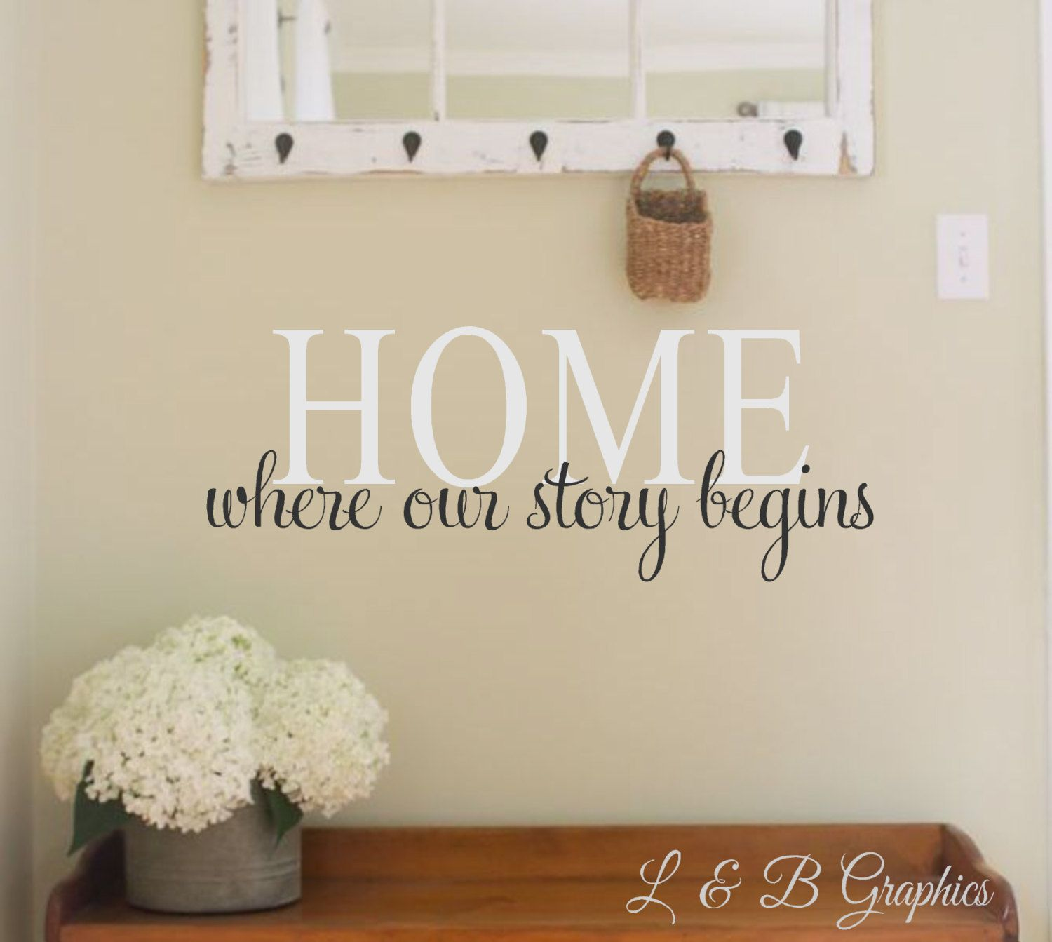 Home Where Our Story BeginsVinyl Wall Decal Wall Decal Wall - Wall decals entryway