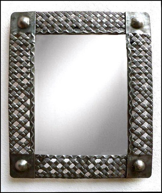 Metal Mirror Wall Hanging Rectangular by HaitiMetalArt on Etsy ...