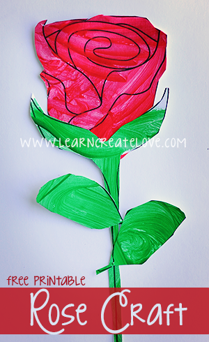 Printable Craft Rose Kid Blogger Network Activities Crafts