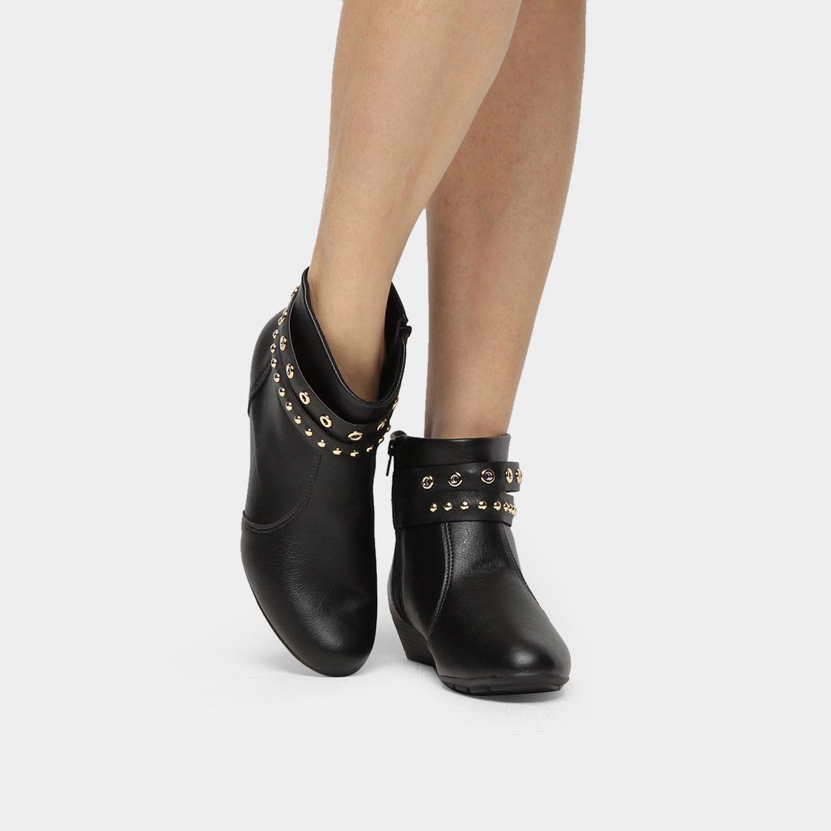 33e1764aa Compre Bota Modare Anabela Multi Tiras Preto na Zattini a nova loja de moda  online da