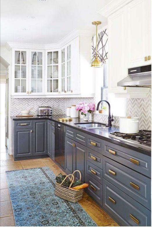Kitchen With Gray Cabinets Kitchen Renovation Kitchen Design Home Kitchens