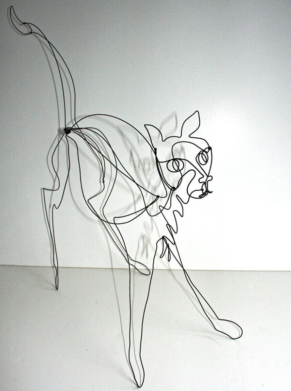 Cat sculpture   Wireworking Wonders   Pinterest   Wire art and ...