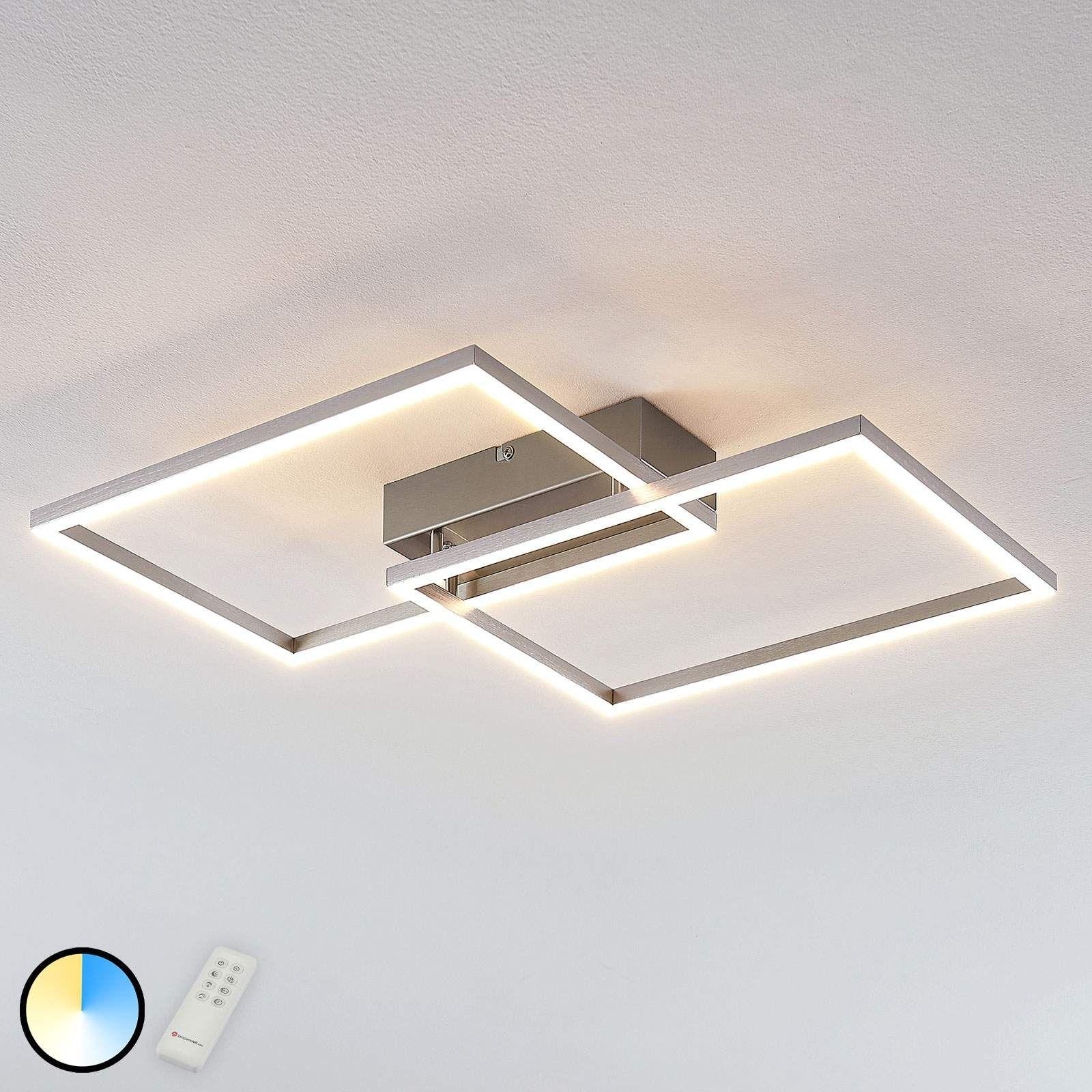 Led Deckenleuchte Quadra Dimmbar 2 Flg 50 Cm In 2020 Led Deckenlampen Beleuchtung Decke Led Deckenleuchte