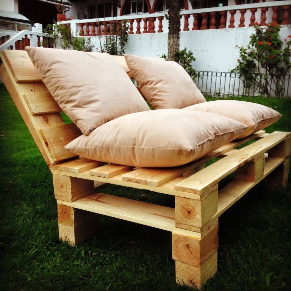 Schön Sofa Aus Europaletten Nur Als Sitzbank Im Garten
