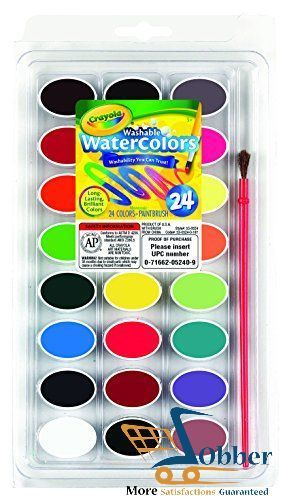 Crayola Watercolor Painting 24 Ct Washable Art Supplies Brilliant