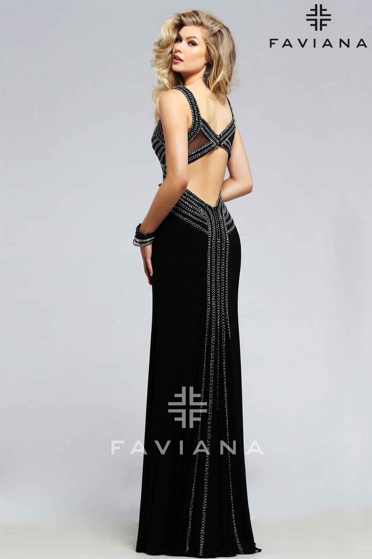 Faviana S7806 Black Cut-Outs Faviana Glamour #ipaprom | Prom Dresses ...