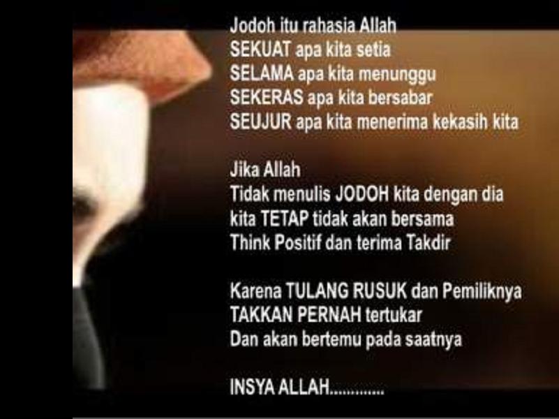 Kata Bijak Islami Untuk Jodoh Bijak Kata Kata Mutiara Kata Kata Motivasi