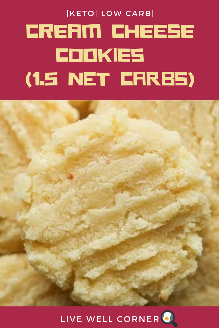 Low Carb Cream Cheese Cookies Recipe For Keto (1.5 NET CARBS) - Live Well Corner