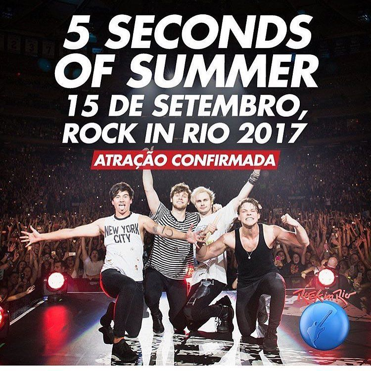 Luke Hemmings On Instagram See You At Rock In Rio Finally Will Make It Down To Brazil Can T Wait Rock In Rio 5 Seconds Of Summer American Festivals