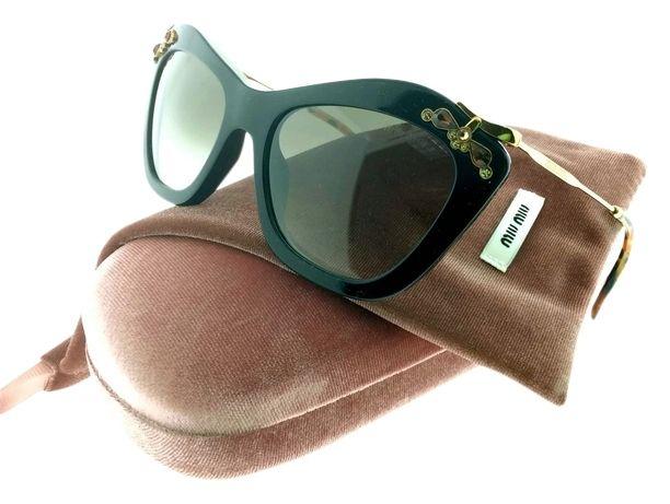 8357ddafcc64c Miu Miu Noir Black Brown Gradient Lens SMU03P-1AB0A7 Sunglasses. Free  shipping and