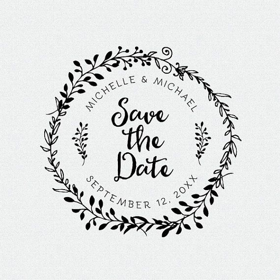 Save The Date Stamp Wedding Favors