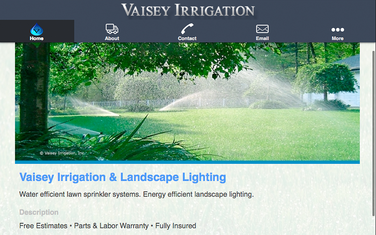 Vaisey Irrigation App available for Android at Google