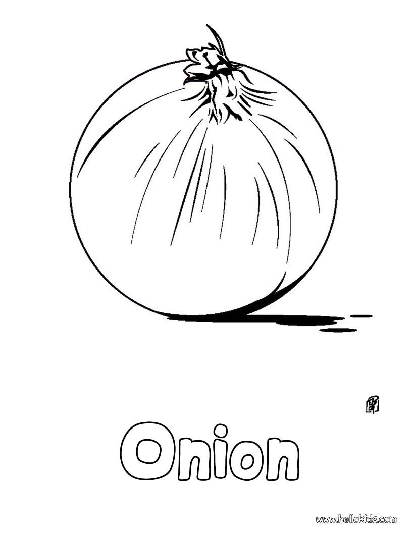 There Is The Onion Coloring Page Perfect Coloring Sheet For Kids